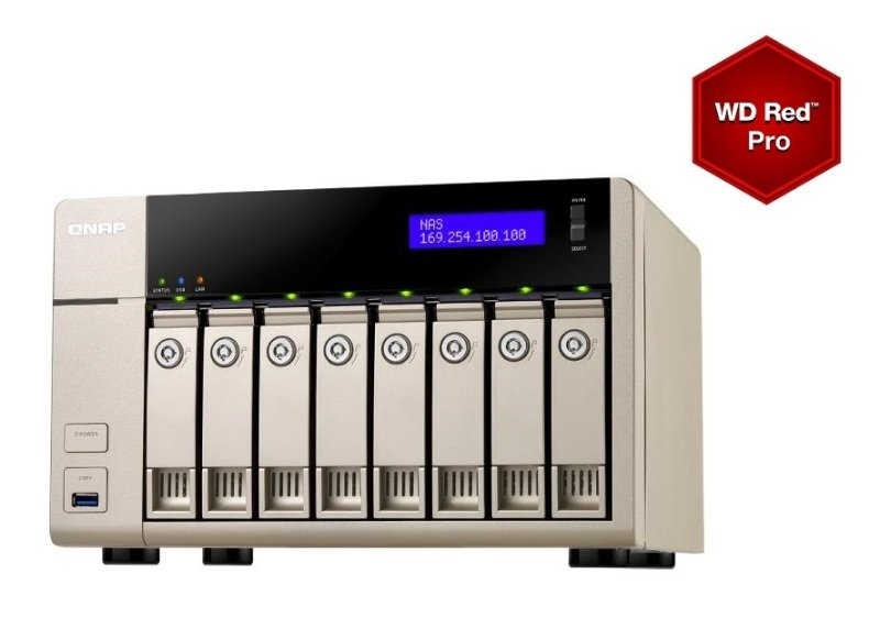 Image of QNAP TVS-863+ 16TB 16GB RAM 8 Bay NAS