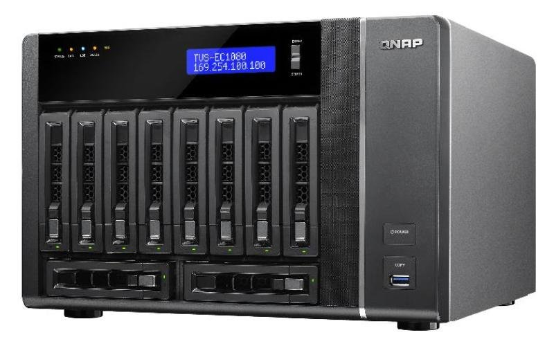 Image of QNAP TVS-EC1080-E3 (32GB RAM) 10 Bay Desktop NAS Enclosure