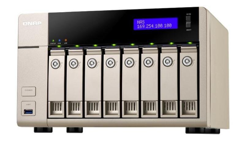 Image of QNAP TVS-863+ (8GB RAM) 8 Bay Desktop NAS Enclosure