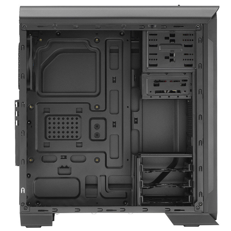 Aerocool 500 Black Midi Tower Gaming Case With Window & Card Reader