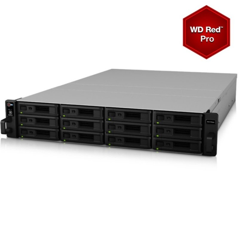 Synology RX1216SAS/24TB (12 x 2TB RED PRO) 12 Bay Rack Expansion Unit