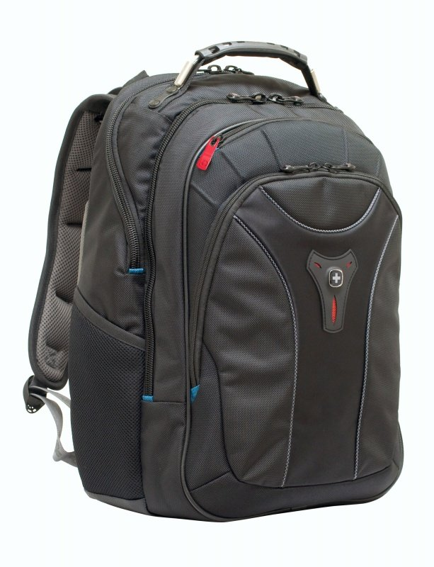 "Wenger Carbon Backpack, For MacBooks up to 17&""; - Black"
