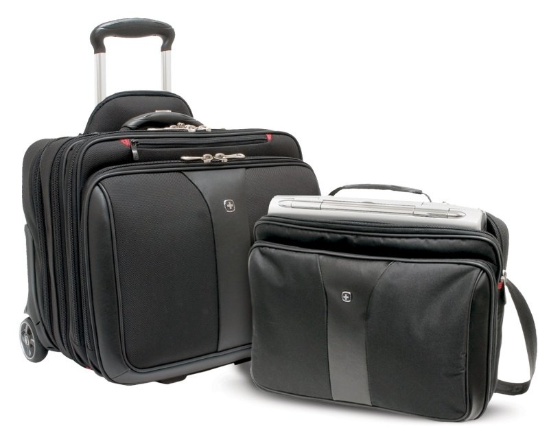Wenger Patriot Roller Triple Laptop Case  for 15.4&quot 16&quot and 17&quot Laptops  Black