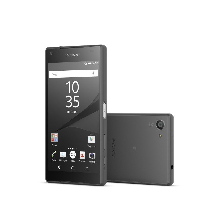 12983808 Sony Xperia Z5 Compact os Android 5.1Snapdragon 810 (MSM8994)64 bit  4.6&quot HD 720p 2 GB RAM 32GB single SIM 23mp REAR 5MP front camera bluetooth wifi 2700 MaH batteryFlash Black phone