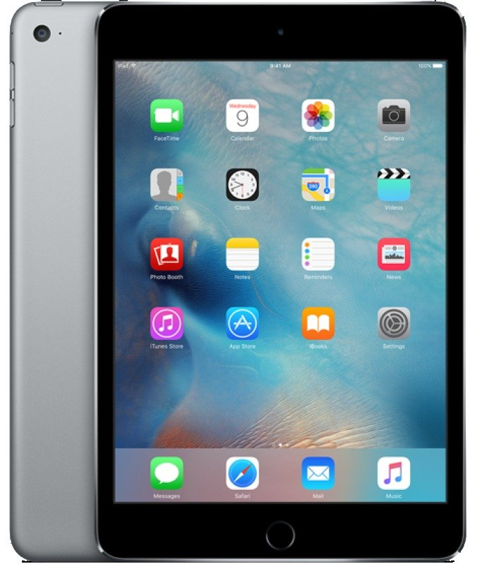 Image of iPad Mini 4, Wi-fi, Cellular, 128GB, 7.9-inch Retina Display, A8 CPU Chip, iOS 9, Bluetooth, 8MP and 1.2MP camera, Apple SIM Space Grey