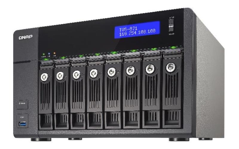 Image of QNAP TVS-871-i5 (8GB RAM) 8 Bay Desktop NAS Enclosure
