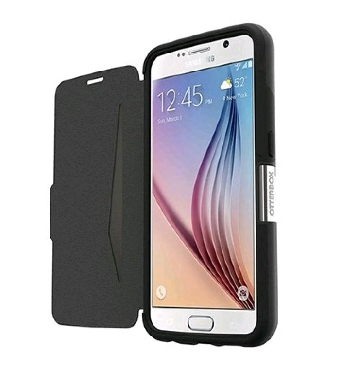 OtterBox Samsung Galaxy S6 Strada Flip Case - Black