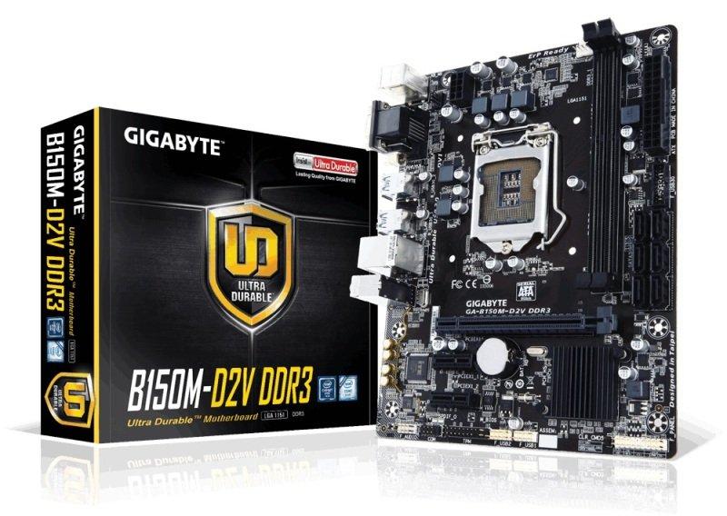 Gigabyte GAB150MD2V DDR3 Socket LGA1151 VGA DVID Micro ATX Motherboard