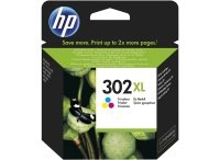 HP 302XL Tri-Colour Original Ink Cartridge - High Yield 330 Pages - F6U67AE