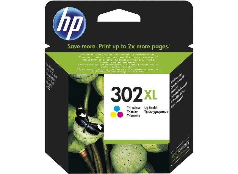 HP 302XL High Yield Tricolour Ink Cartridge  F6U67AE