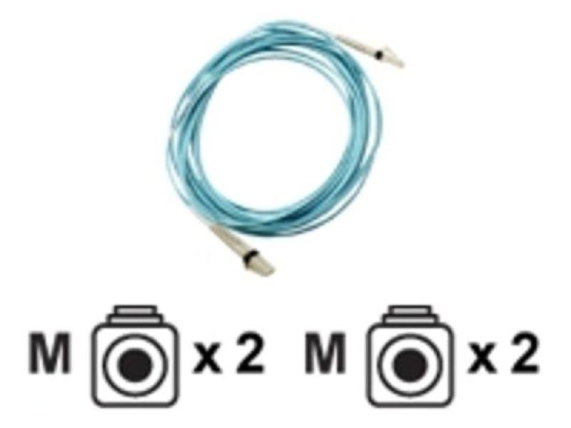 HP LC to LC Multi-mode OM3 2-Fiber 1.0m 1-Pack Fiber Optic Cable