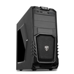 AvP Storm-P27 Mid Tower Black 1x12cm Bk Fan USB 3.0 Window Case