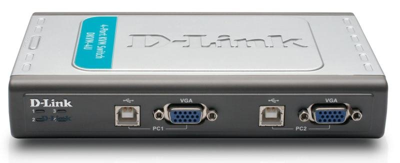 D-Link Pro Connect 4-port USB KVM Switch