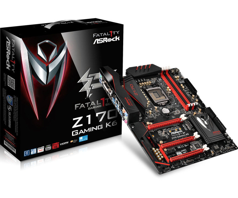 ASRock Fatal1ty Z170 Gaming K6 Socket 1151 DVI-D HDMI DisplayPort 7.1 CH HD Audio ATX Motherboard