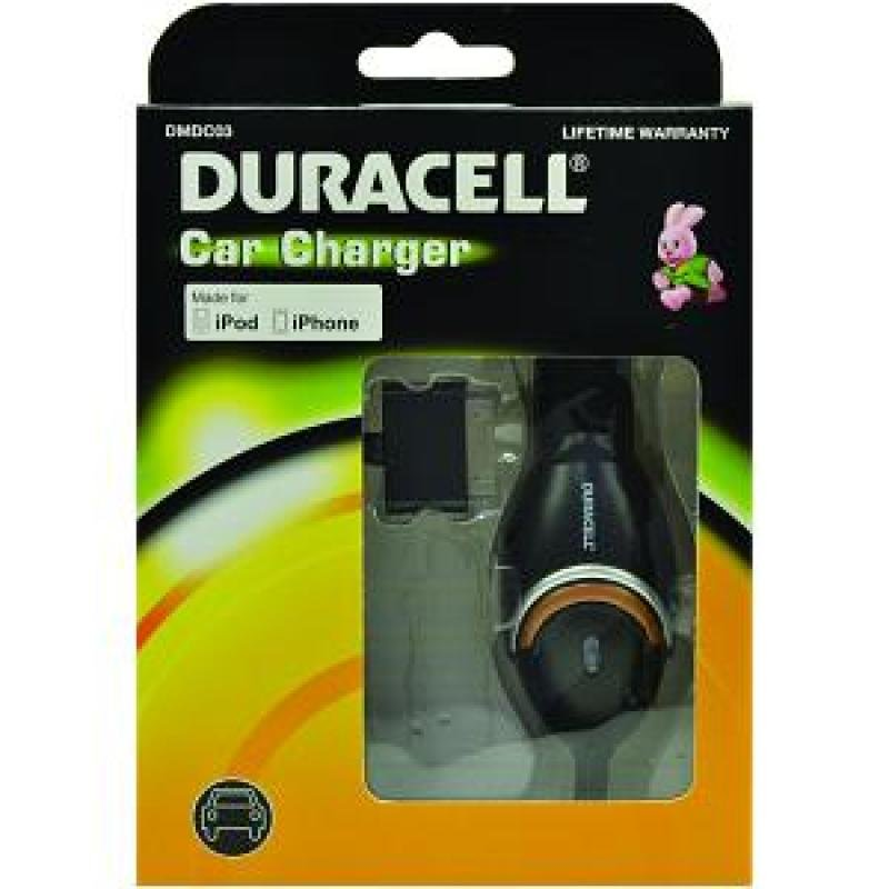 Image of Duracell In-Car Charger for Apple iPhone/iPod (DMDC03)