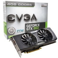 EVGA GeForce GTX 960 FTW GAMING ACX 2.0+ 4GB GDDR5 DVI-I HDMI 3x DisplayPort PCI-E Graphics Card