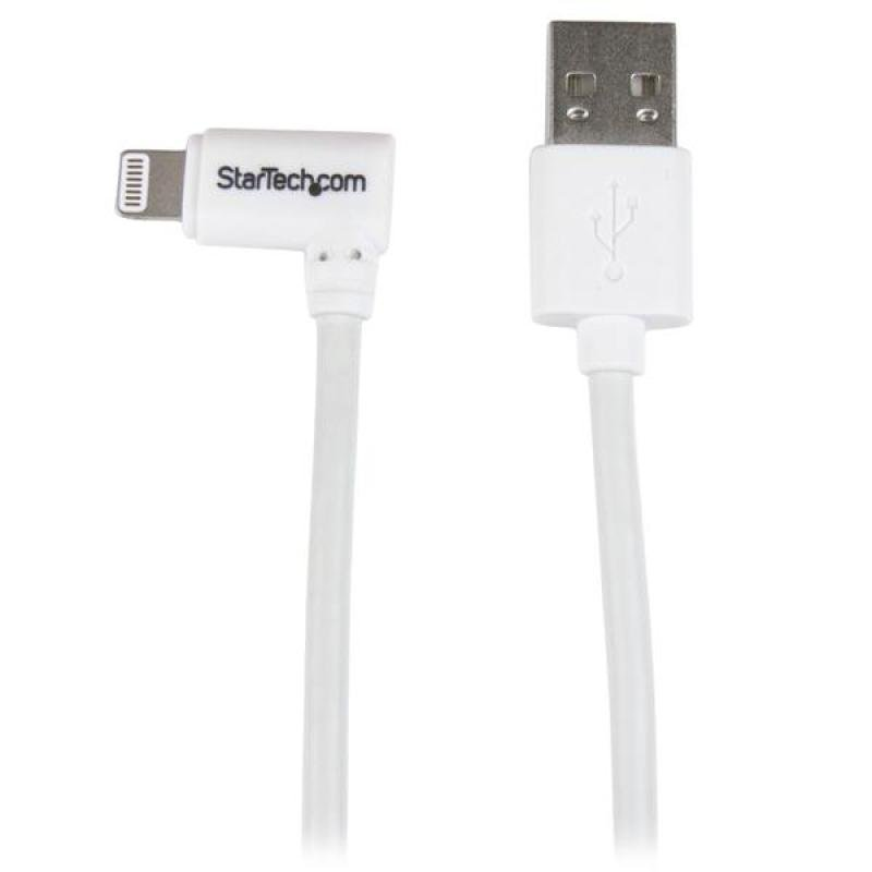 Angled Lightning To Usb Cable - 2m (6ft)  White