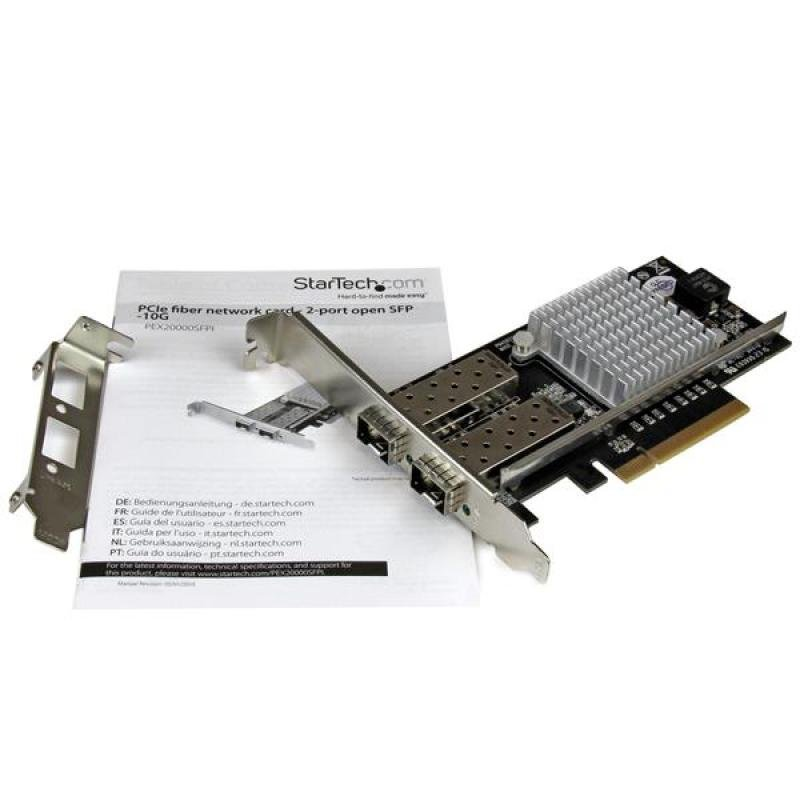 2-port 10g Fiber Network Card With Open Sfp+ - Pcie  Intel Chip