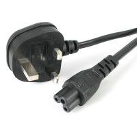 StarTech 2m Laptop Power Cord - 3 Slot For Uk - Bs-1363 To C5 Clover Leaf Power Cable Lead