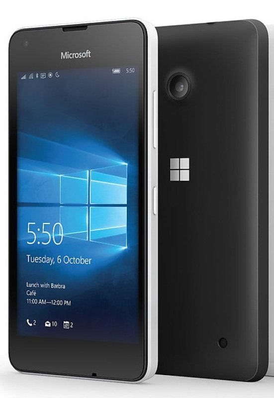 Microsoft Lumia 550 RM1127 CV GB Black   4.7&quot LCD Display  HD720 (1280 x 720)  Quadcore 1.1 GHz  5MP Rear and 2MP Front Camera  8GB Storage and Expandability Micro SD  Windows 10