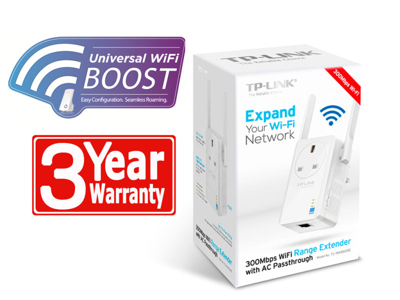EXDISPLAY TP-Link TL-WA860RE 300Mbps WiFi Range Extender with AC Passthrough