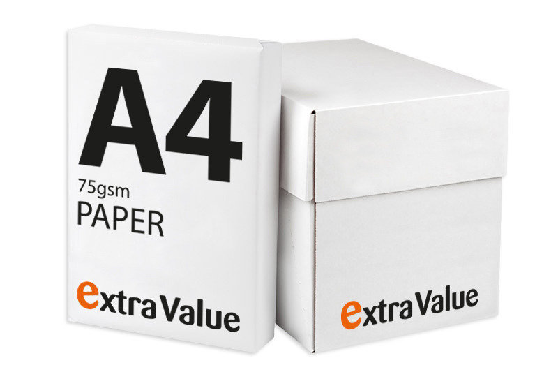 Image of Ebuyer Extra Value 75gsm A4 Printer Paper - Box of 2500 Sheets