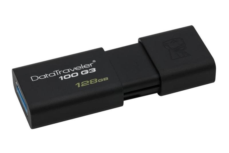 Kingston 128GB USB 3.0 Data Traveler 100 G3 Flash Drive