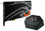 Asus STRIX RAID DLX 7.1 PCIe gaming sound card set with an audiophile-grade DAC and 124dB SNR