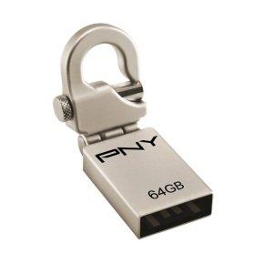 PNY Micro Hook Attaché 2.0 64GB USB Flash Drive
