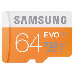 Samsung MicroSDXC 64GB EVO Memory Card with Adapter - MB-MP64D
