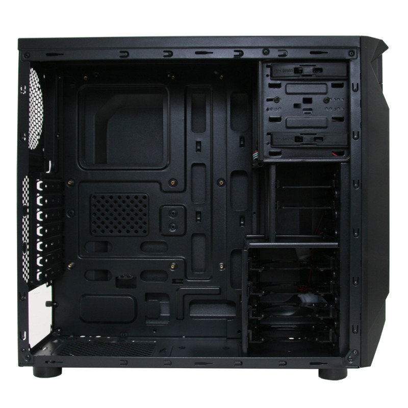 Atom Gaming PC Case with 2 x 15 LED 12cm Fans with Side Window