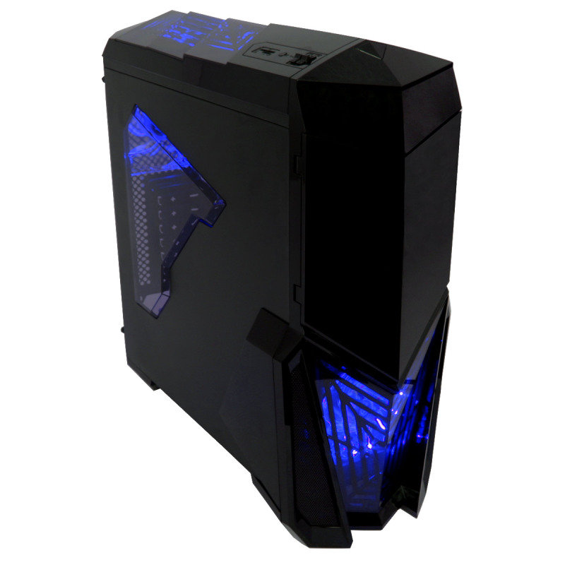 Image of Game Max Destroyer with 3 x 12cm 15 Blue LED fans & 1 x 12cm 4 LED Gaming PC Case