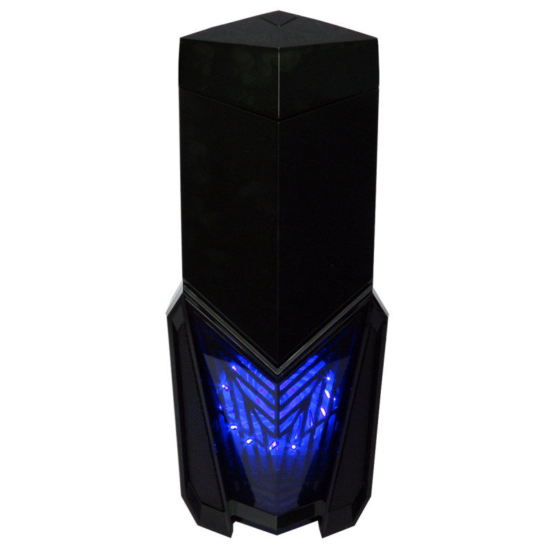 Game Max Destroyer with 3 x 12cm 15 Blue LED fans & 1 x 12cm 4 LED Gaming PC Case