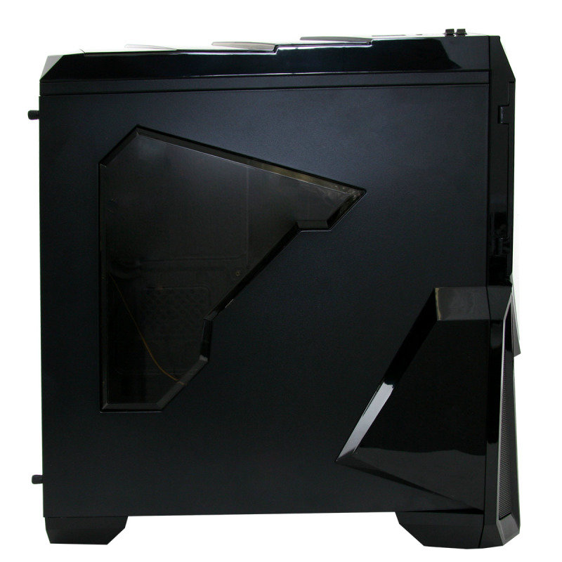 Gamemax Destroyer with 3 x 12cm 15 Green LED fans & 1 x 12cm 4 LED Rear Gaming Case