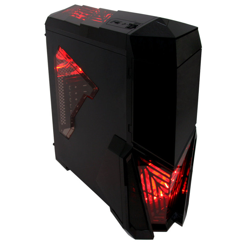 Image of Gamemax Destroyer with 3 x 12cm 15 Red LED fans 1 x 12cm 4 LED Rear Gaming Case