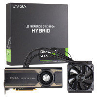 EVGA GTX 980 Ti Hybrid 6GB GDDR5 DVI-I HDMI 3x DisplayPort PCI-E Graphics Card