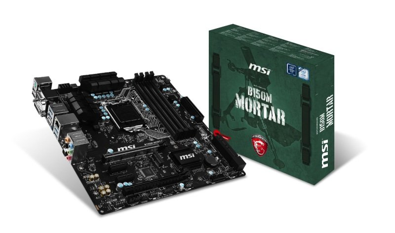 MSI B150M MORTAR Socket LGA 1151 VGA DVI HDMI 8-channel HD Audio Motherboard