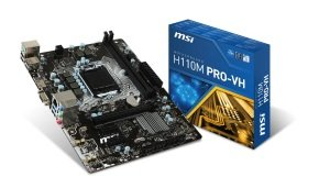 MSI H110M PRO-VH Socket LGA 1151 VGA HDMI 8-channel HD Audio Motherboard