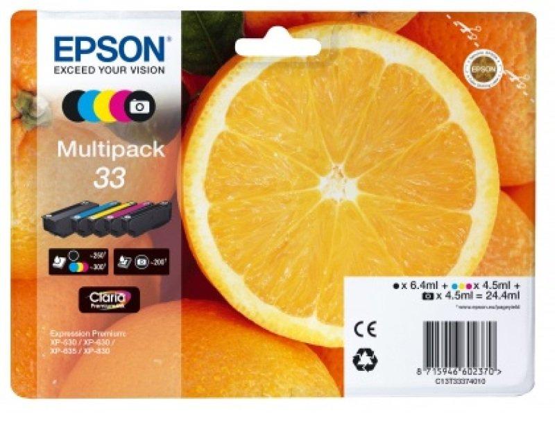 Epson Multipack 5-colours 33 Claria Premium Ink