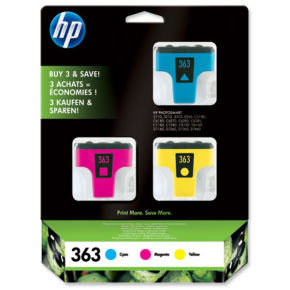 HP 363 Colour Ink Cartridges - CB333EE