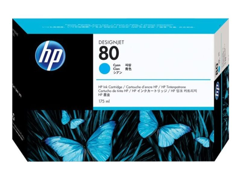 HP 80 175ml Cyan Ink Cartridge - C4872A