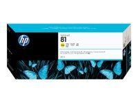 HP 81 Yellow Original Ink Cartridge - Standard Yield 680ml - C4933A