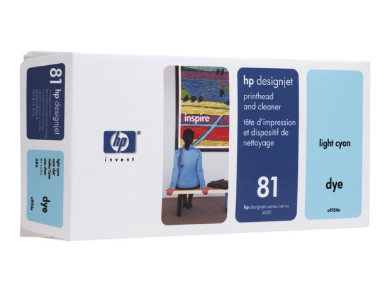 *HP 81 Light Cyan Dye Printhead and Cleaner - C4954A
