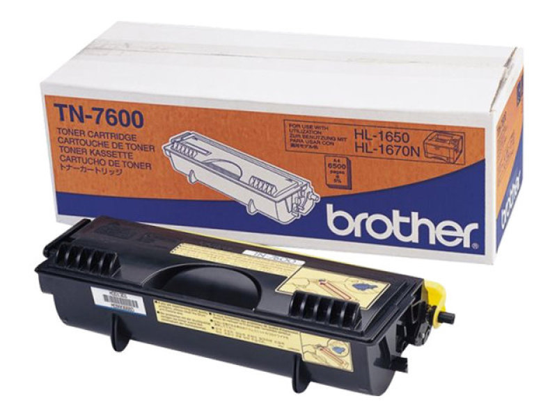 Brother TN7600 Black Toner Cartridge 6000 Pages