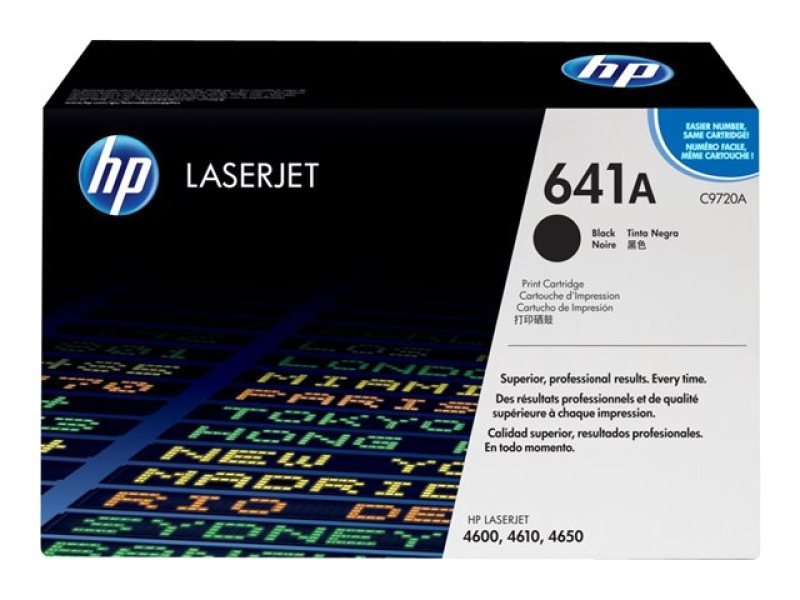 HP 641A Black Toner Cartridge 9000 Pages  C9720A