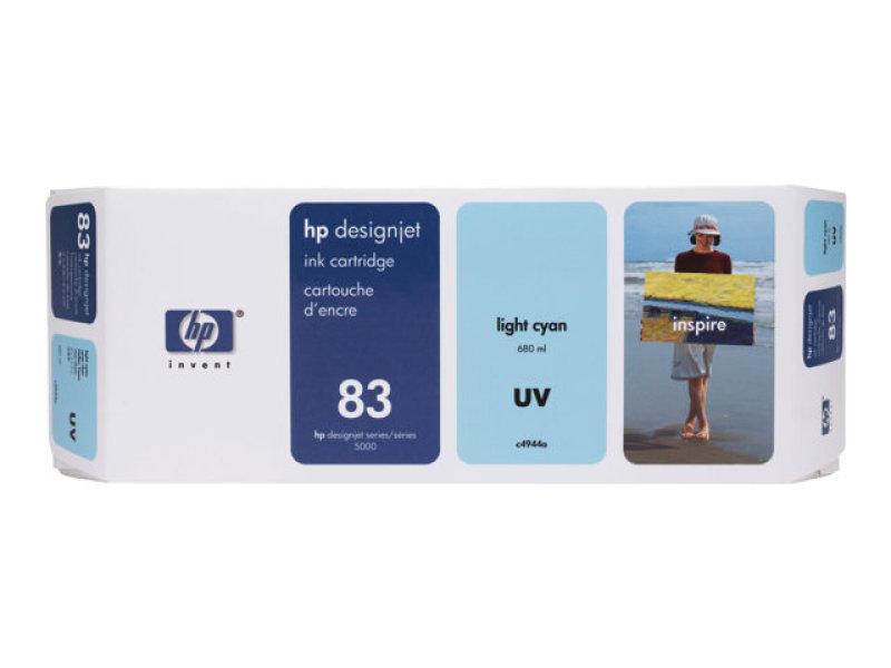 HP 83 Light Cyan UV Ink Cartridge - C4944A