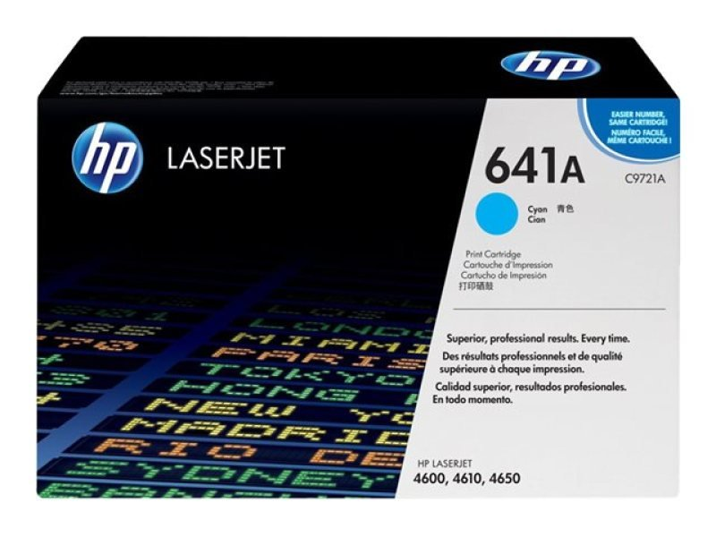 HP 641A Cyan Toner Cartridge 8000 Pages  C9721A