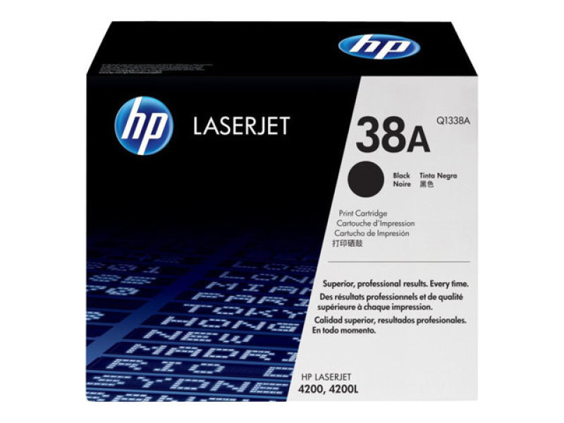 HP 38A Black Toner Cartridge 12000 Pages  Q1338A