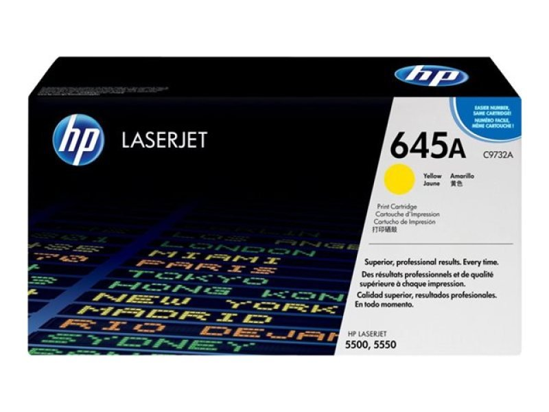 HP 645A Yellow Toner Cartridge - C9732A