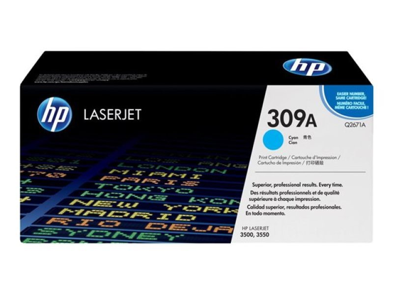 HP 309A Cyan Toner Cartridge - Q2671A